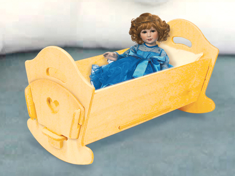 Country Plan Front of Home Doll Cradle