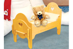 All wood doll bed is sure to be a favorite when your little one is playing with their dolls