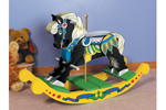 Carousel rocking horse is a terrific old-fashioned addition to any children's bedroom or playroom