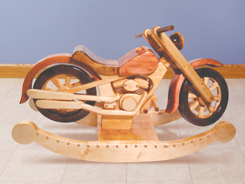 Motorcycle rocker toy plan 097d 1528 house plans and more for Woodworking plan for motorcycle rocker toy