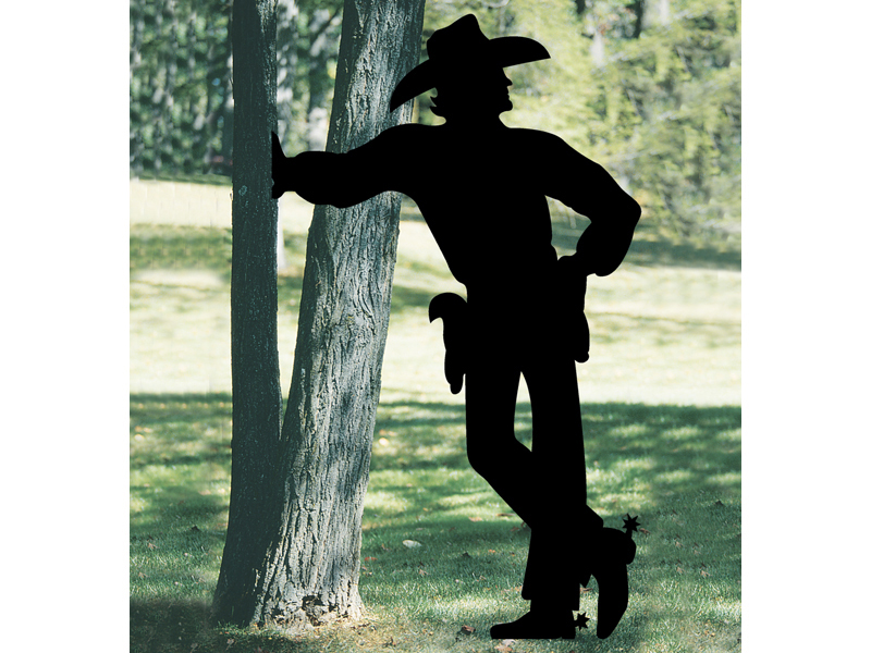 Do It Yourself Home Design: Cowboy Shadow Yard Art Plan 097D-9000