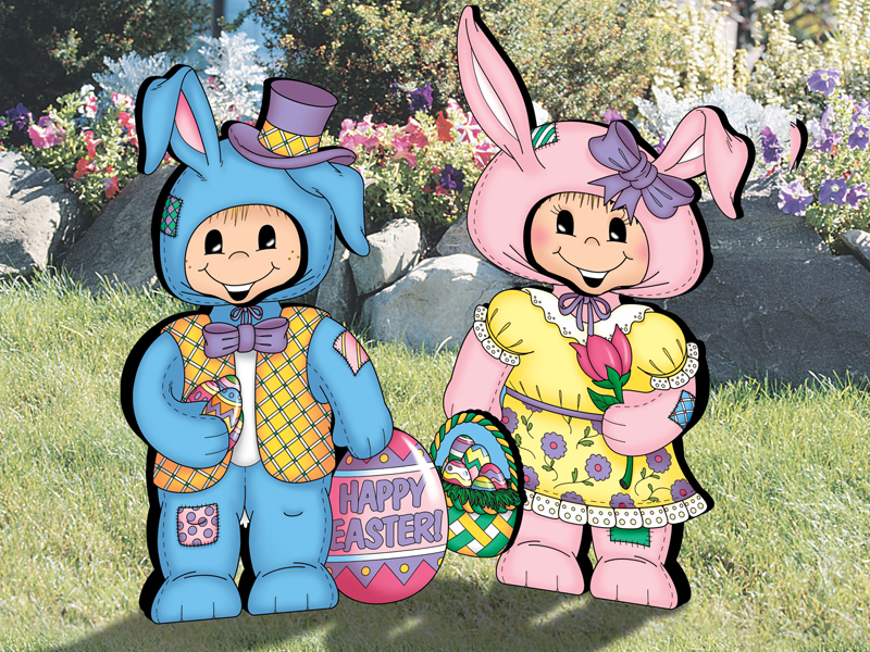 Traditional Plan Front of Home Dress-Up Darlings - Easter