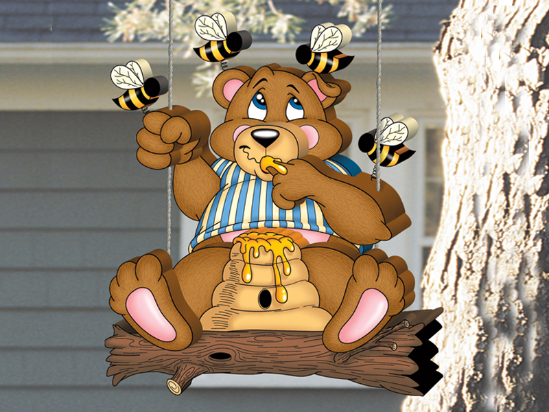 Front of Home Honey Bear Swinger