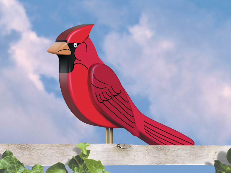 European Plan Front of Home Big 3D Cardinal