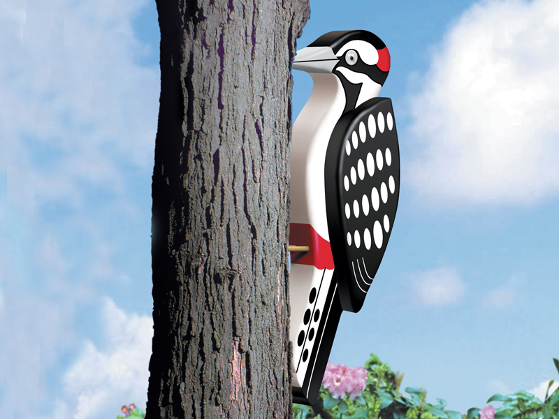 Big 3D woodpecker is a great pattern for attaching to a tree