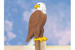 Big 3D eagle looks great when perched on a post or fence