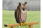 Great horned owl pattern is perfect for your deck or backyard