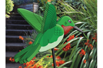3D hummingbird can be staked into a garden area for added interest and charm