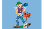 Hillbilly shine yard art pattern is a casual and country style welcome