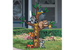 Friendly forest totem adds whimsey and fun to an outdoor space