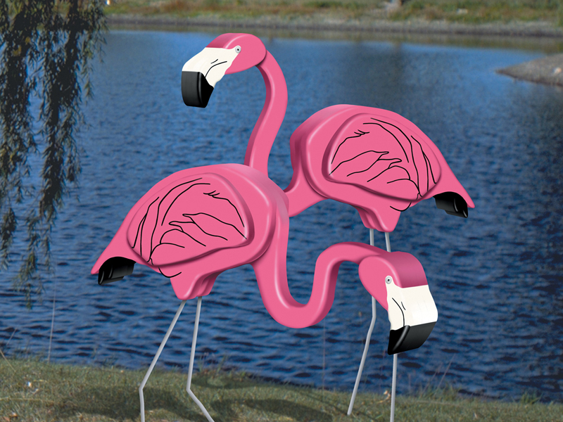 Ranch Plan Front of Home Big 3D Flamingo