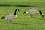 The flock of geese yard art pattern includes two different geese designs