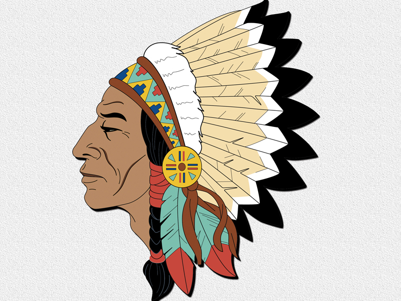 Chief gazing meadow is a great Native American wall hanging