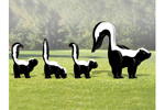 This 3D skunk family includes a large skunk and three babies