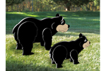 Black bear and cub are the perfect decorations for a wilderness outdoor setting