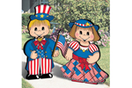 Fourth of July dress-up darlings are festive and fun ways to decorate for the holiday