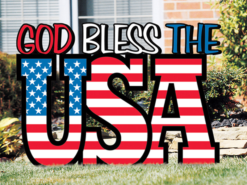 USA Yard art display is a great way to display your patriotism