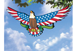 Star-spangled eagle can be hung from a tree as a backyard focal point