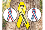 Homeland ribbons can be easily hung from your home or a tree to show your spirit