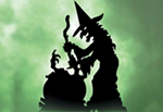 the witch and caldron shadow ayrd art pattern is mystical and frightening