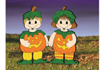 Pumpkin dress-up darlings is cute and friendly Halloween decorations