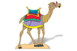 The lawn nativity camel further expands your nativity scene