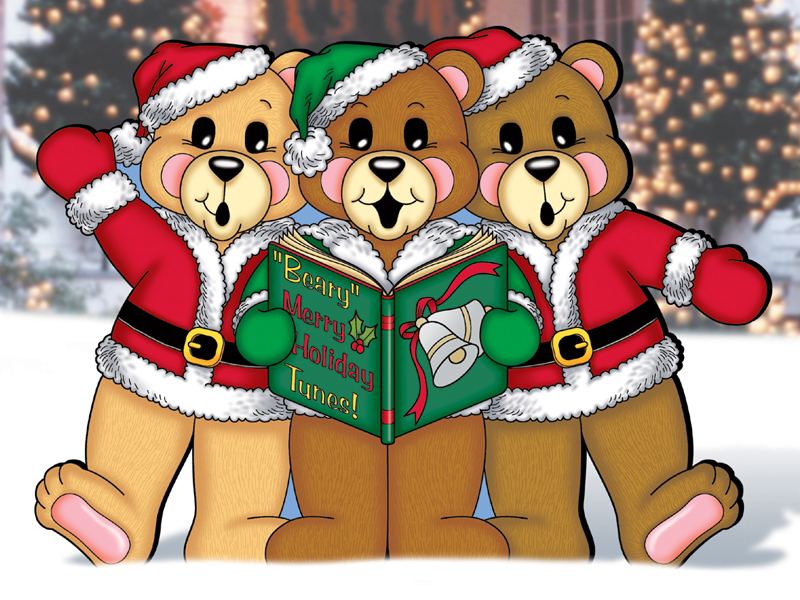 Country Plan Front of Home Caroling Bears