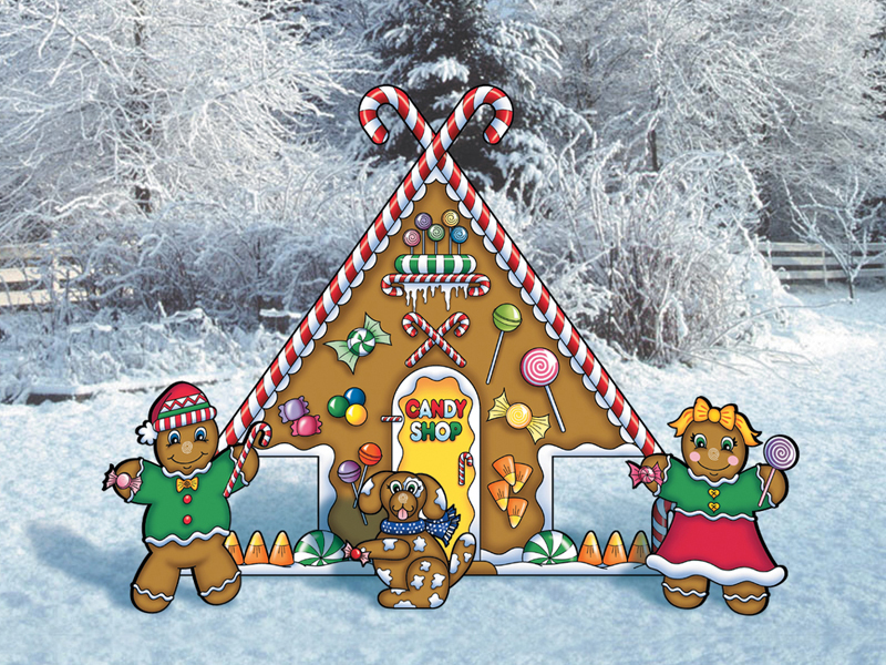 Gingerbread candy shop is cute as well as traditional in design