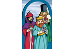 Beautiful arched pattern featuring the three wise men