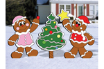 Cute gingerbread style Christmas tree looks great when placed with the gingerbread man and woman