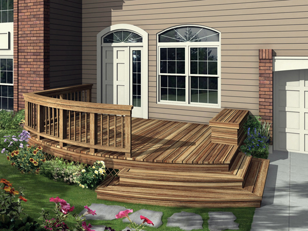 Adenstein Curved Deck Plan 107D-3002 | House Plans and More