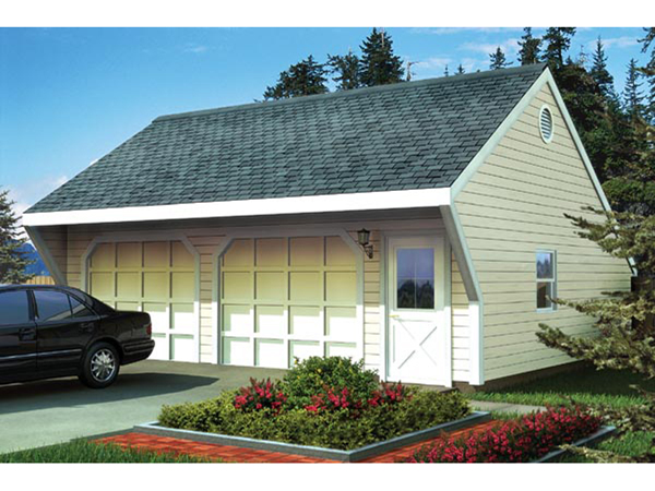 Car garage with front roof overhang 109d 6017 garage plans and more