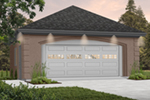 Classically Traditional, this two-car garage has great style while being easy to build