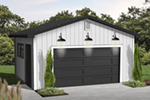 Simple one-car garage design