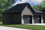 Thee-car economy garage has great universal style to match any home design