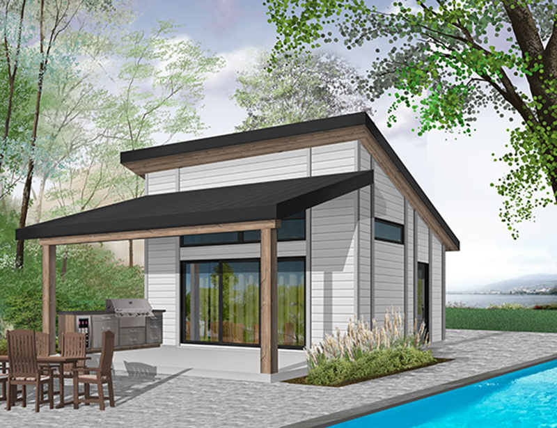 Building Plans Front of Home - 113D-7509 | House Plans and More