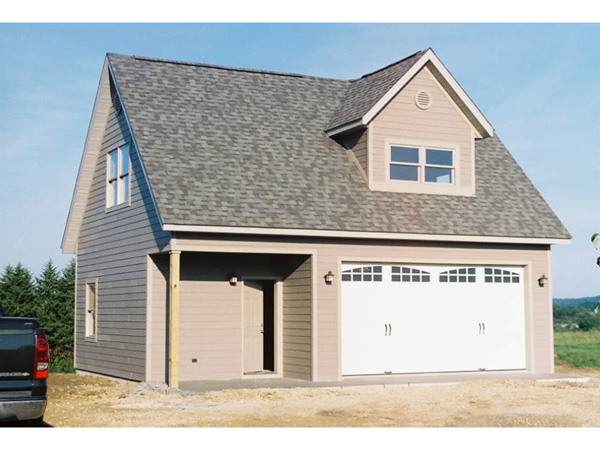 loft garage with covered porch and dormer 117d 6000