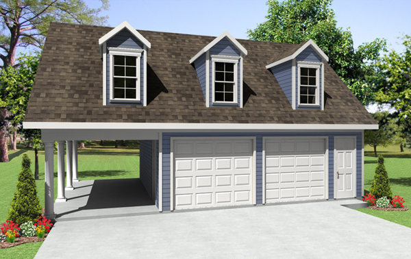 Old forge garage with carport plan 124d 6001 house plans for Garage apartment packages