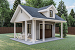 Ranch House Plan Front of Home - 125D-4502 | House Plans and More