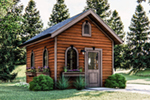 Ranch House Plan Front of Home - 125D-4503 | House Plans and More