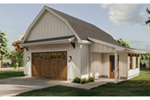 Farmhouse Plan Front of Home - 125D-6011 | House Plans and More