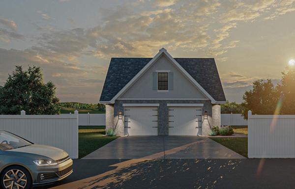 Edlor cape cod 2 car garage plan 125d 6015 house plans for Cape cod garage