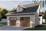 Building Plans Front of Home - 125D-7500 | House Plans and More