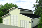 Building Plans Front of Home - 133D-6011 | House Plans and More