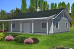 Building Plans Front of Home - Monty Workshop & Fishing Room 133D-7512   House Plans and More