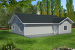 Building Plans Front Photo 01 - Monty Workshop & Fishing Room 133D-7512   House Plans and More