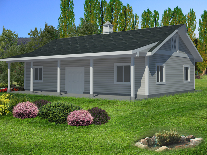 Building Plans Front Photo 02 - Monty Workshop & Fishing Room 133D-7512   House Plans and More
