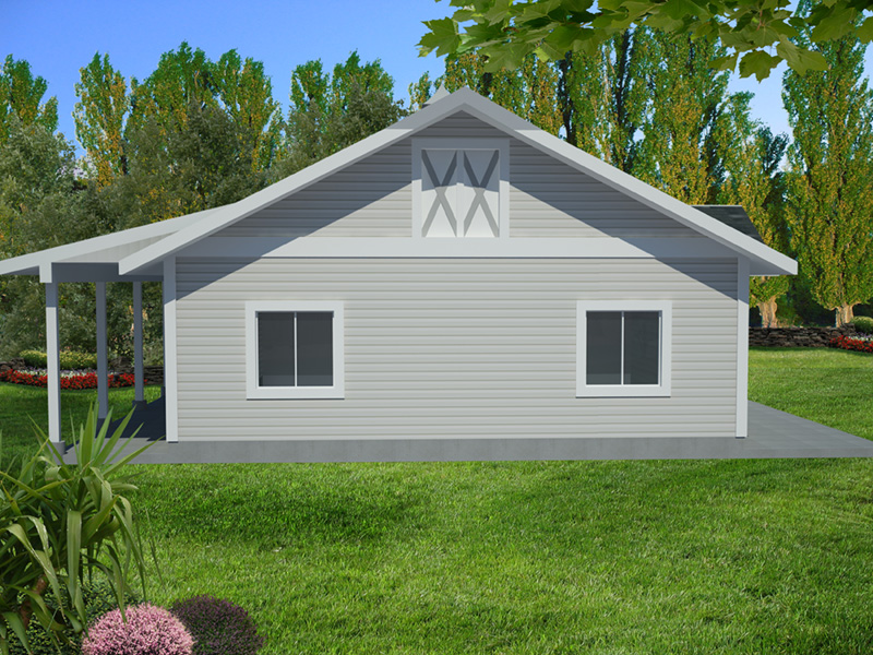 Building Plans Front Photo 03 - Monty Workshop & Fishing Room 133D-7512   House Plans and More